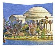 Washington Cherry Blossoms Tapestry