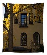 Washington D C Facades - Dupont Circle Neighborhood In Yellow Tapestry