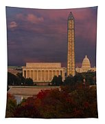 Washington Dc Iconic Landmarks Tapestry
