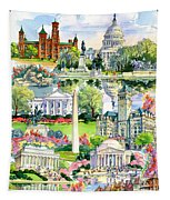 Washington Dc Painting Tapestry