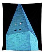 Washington Monument At Night Tapestry
