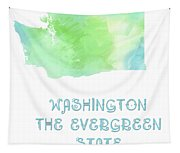 Washington - The Evergreen State - Map - State Phrase - Geology Tapestry