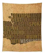Washington Word Art State Map On Canvas Tapestry by Design Turnpike
