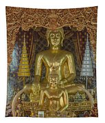 Wat Chai Monkol Phra Ubosot Buddha Images Dthcm0849 Tapestry