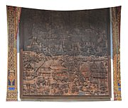 Wat Chai Monkol Phra Ubosot Diorama Of Village Life Dthcm0856 Tapestry