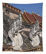 Wat Chedi Luang Phra Chedi Luang Five-headed Naga Dthcm0052 Tapestry