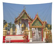 Wat Kampaeng Phra Ubosot And Gate Dtha0142 Tapestry