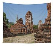 Wat Mahathat Prangs And Chedi Dtha0231 Tapestry
