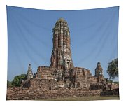 Wat Phra Ram Great Central Prang Complex Dtha0157 Tapestry