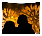 Watching Fireworks Tapestry