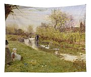 Watching The Ducks Tapestry