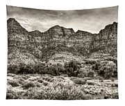 Watchman Trail In Sepia - Zion Tapestry