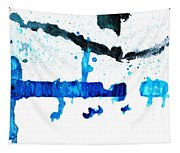 Water Dance - Blue And White Art By Sharon Cummings Tapestry