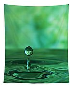 Water Drop Green Tapestry