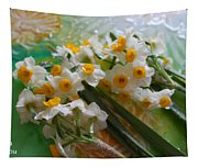 Water Drops On A Bouquet Tapestry