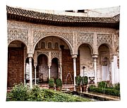 Water Gardens Of The Palace Of Generalife Tapestry