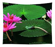 Water Lillies In Pink Tapestry