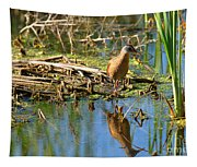 Water Rail Reflection Tapestry