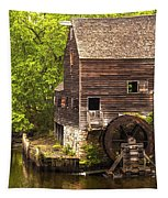 Water Wheel At Philipsburg Manor Mill House Tapestry