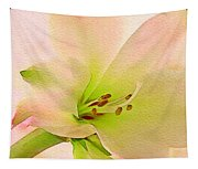 Watercolor Lily Bloom Tapestry