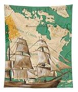 Watercolor Map 2 Tapestry