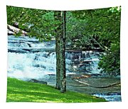 Waterfall And Hammock In Summer 2 Tapestry