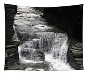 Waterfall And Rocks Tapestry