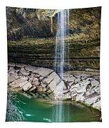 Waterfall At Hamilton Pool Tapestry