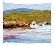 Waterfall Beach Denmark Painting Tapestry