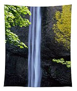 Waterfall In A Forest, Latourell Falls Tapestry