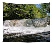 Waterfall In Woodstock Vermont Tapestry