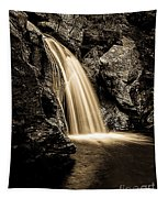 Waterfall Stowe Vermont Sepia Tone Tapestry