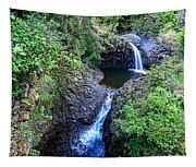 Waterfalls And Pools Maui Hawaii Tapestry