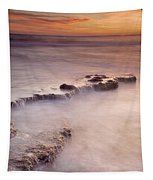 Waterfalls On The Rocks Tapestry