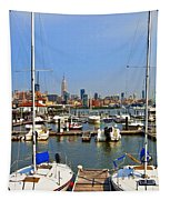Waterfront View Hoboken Tapestry