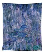 Waterlilies And Reflections Of A Willow Tree Tapestry