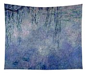 Waterlilies Two Weeping Willows Tapestry