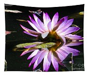 Waterlily And Dragonfly Tapestry