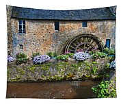 Waterwheel In Brittany Tapestry