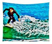 Wave Surfer Tapestry