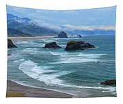 Waves Coming Ashore Tapestry