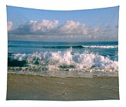 Waves Crashing On The Beach, Varadero Tapestry