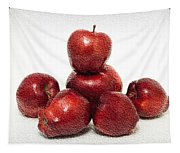 We Are Family - 6 Red Apples - Fresh Fruit - An Apple A Day - Orchard Tapestry