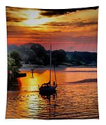 We Sail At Sunrise Tapestry