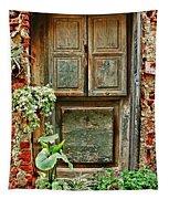 Weathered Door Tapestry