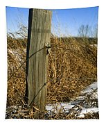 Weathered Old Fence Post Tapestry