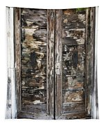Weathered Wood Door Venice Italy Tapestry