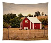 Wedding Ring Quilt Barn Tapestry