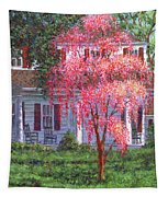 Weeping Cherry By The Veranda Tapestry