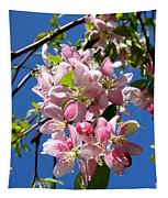 Weeping Cherry Tree Blossoms Tapestry